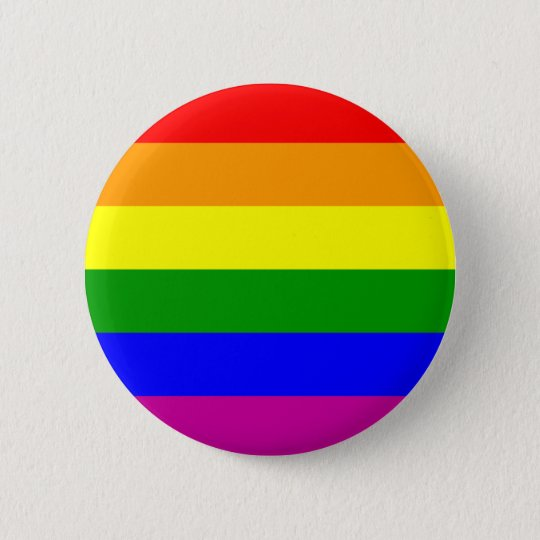 Gay Pride Rainbow Pinback Button