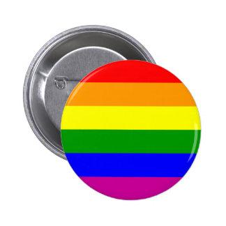 Gay Pride Rainbow Pinback Button