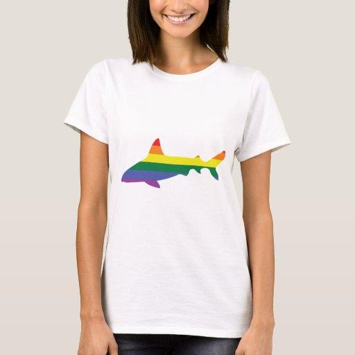 Gay Pride Rainbow Shark T-Shirt