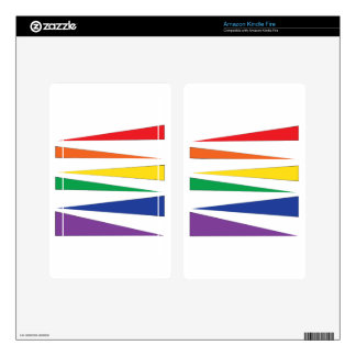 Gay Pride Rainbow Kindle Fire Decal