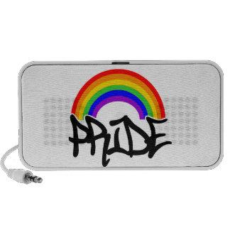 Gay Pride Rainbow Notebook Speaker