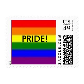 gay pride rainbow stamp