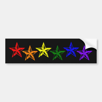 Gay Pride Rainbow Stars Bumper Sticker