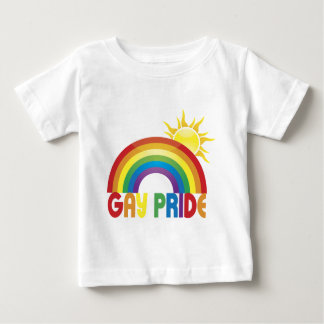 Gay Pride Rainbow Sun Baby T-Shirt