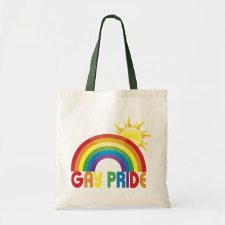 Gay Pride Rainbow Sun Canvas Bag