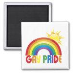 Gay Pride Rainbow Sun Magnet