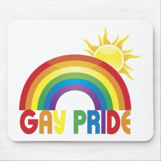 Gay Pride Rainbow Sun Mouse Pad