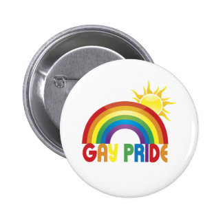 Gay Pride Rainbow Sun Pins