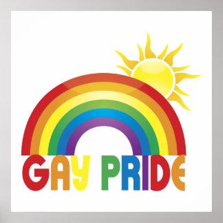Gay Pride Rainbow Sun Poster