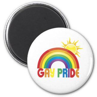 Gay Pride Rainbow Sun Refrigerator Magnets