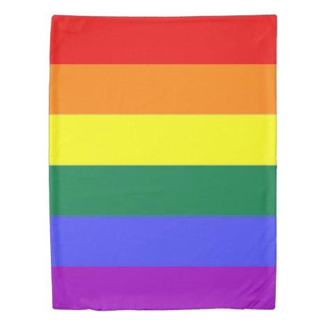 Gay Pride Rainbow Themed Duvet Cover