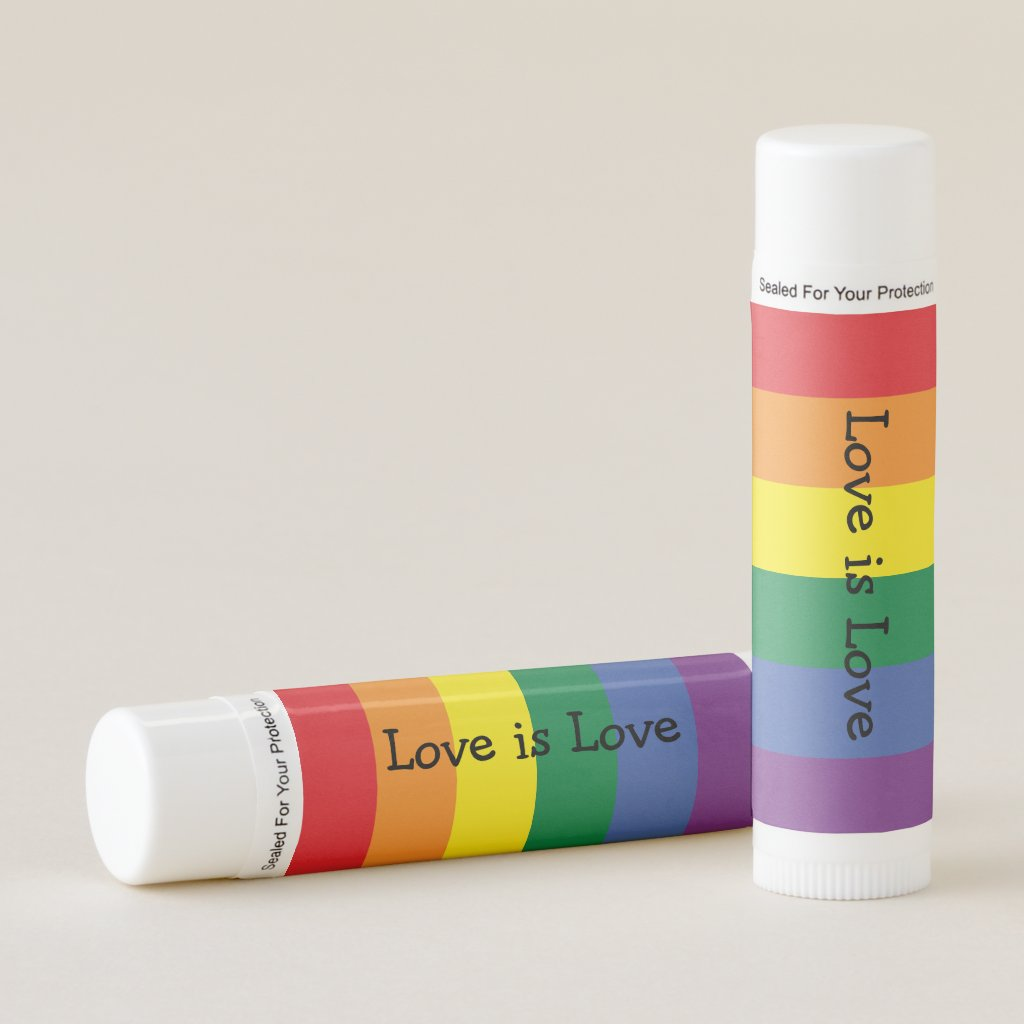 Gay Pride Rainbow Themed Personalized Lip Balm