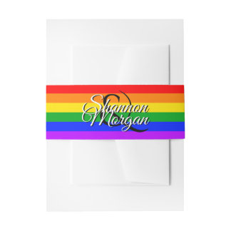 Gay Pride Rainbow Wedding Belly Band