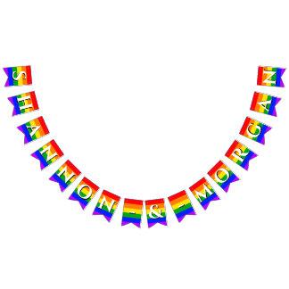 Gay Pride Rainbow Wedding Bunting Flags