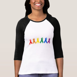 Gay Pride Ribbon colors Shirts