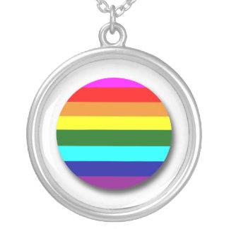 Gay Pride Round Pendant Necklace