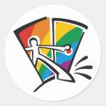Gay Pride Round Sticker