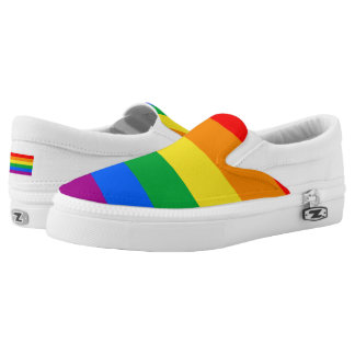 Gay Pride Slip-On Sneakers