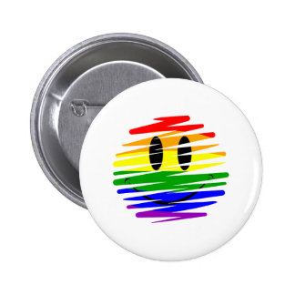 Gay Pride Smiley Pinback Button