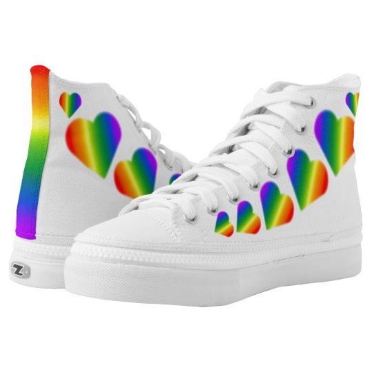 7098cf6768ed Gay Pride Sneakers Rainbow Love Shoes