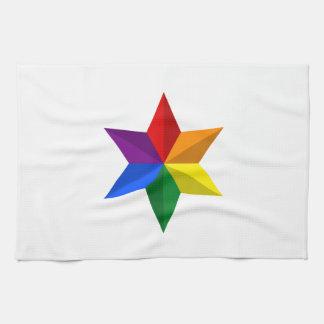 Gay Pride Star Hand Towel