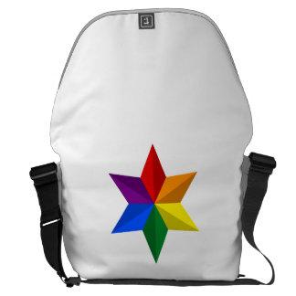 Gay Pride Star Messenger Bag