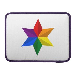Gay Pride Star Sleeve For MacBooks