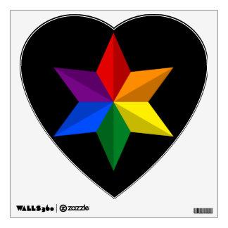 Gay Pride Star Wall Sticker