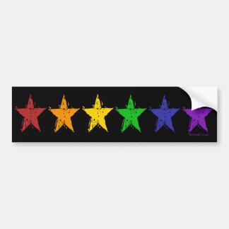 Gay Pride Stars 01 Bumper Sticker Car Bumper Sticker