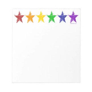 Gay Pride Stars notepads