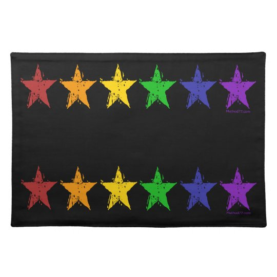 Gay Pride Stars Placemats