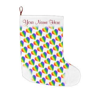 Gay Pride Stocking Personalized Love Stockings Large Christmas Stocking