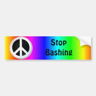 gay pride: stop bashing bumper sticker