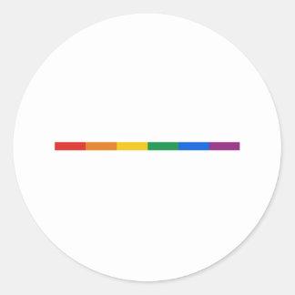 Gay Pride Stripe Classic Round Sticker