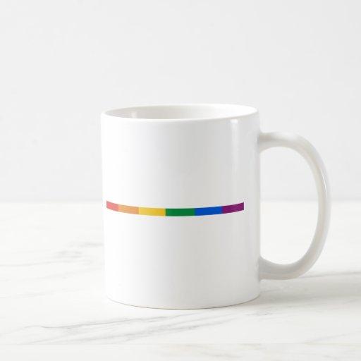 Gay Pride Stripe Classic White Coffee Mug