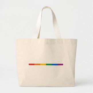 Gay Pride Stripe Jumbo Tote Bag