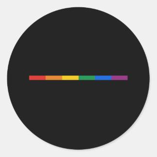 Gay Pride Stripe Round Sticker