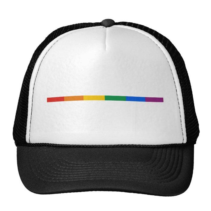 Gay Pride Stripe Trucker Hat
