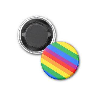 Gay Pride Stripes 1 Inch Round Magnet