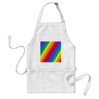 Gay Pride Stripes Apron