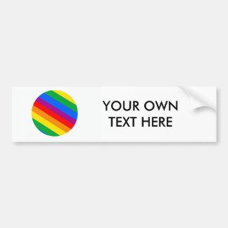 Gay Pride Stripes Bumper Sticker