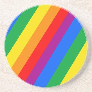 Gay Pride Stripes Drink Coasters