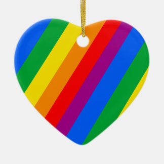 Gay Pride Stripes Christmas Tree Ornaments