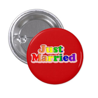 gay pride swipes in: just married button