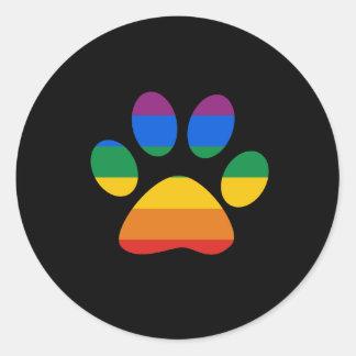 Gay Pride T-shirt Classic Round Sticker