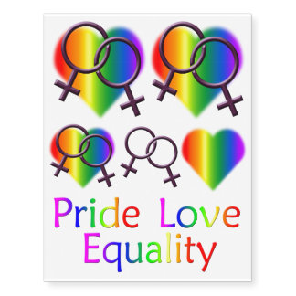 Gay Pride Temporary Tattoo Lesbian Love Skin Art