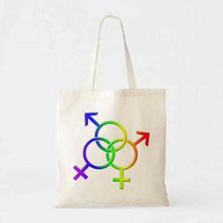 Gay Pride Tote Bag LGBT Rainbow Love Shopping Bag