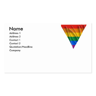 GAY PRIDE TRIANGLE 1 BUSINESS CARD