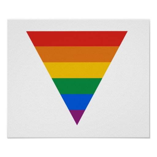 Gay Pride Triangle Poster