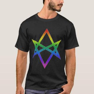 Gay Pride Unicursal Hexagram T-Shirt